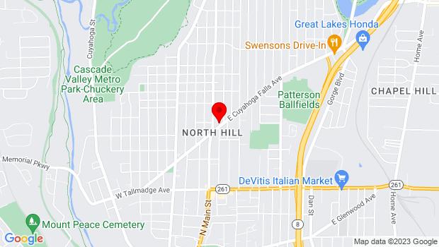 Google Map of 183 E. Cuyahoga Falls Avenue, Akron, OH 44310