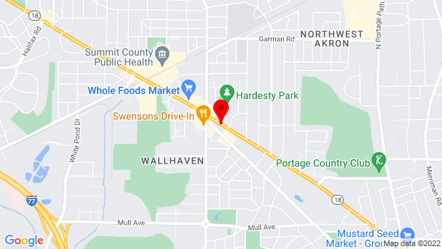 Google Map of 1615 W. Market St, Akron, OH 44313