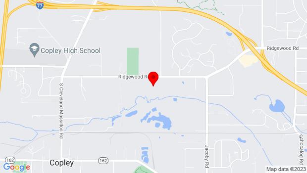 Google Map of 3204 Ridgewood Rd, Fairlawn, OH 44333