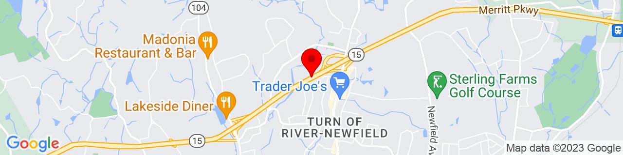 Google Map of 41.1097205, -73.5522933
