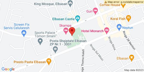 Google Map of Bulevardi Qemal Stafa, Elbasan, Αλβανία