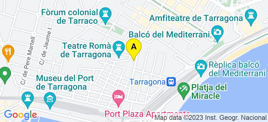 situacion en el mapa de . Direccion: Calle Apodaca nº 5, esc. A 1º 4º, 43004 Tarragona. Tarragona