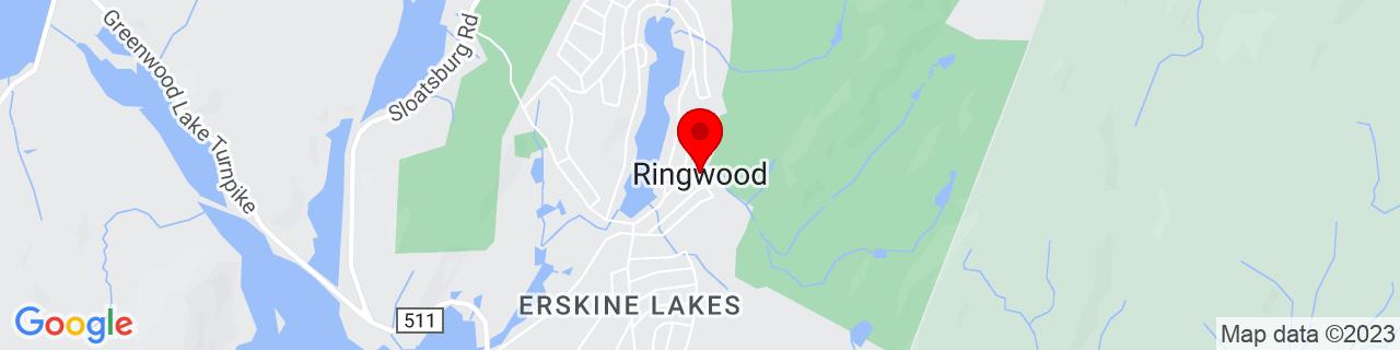 Google Map of 41.1134289, -74.2454254