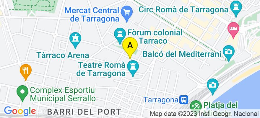 situacion en el mapa de . Direccion: Gasòmetre 20, entl., 43005 Tarragona. Tarragona