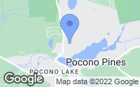 Map of Pocono Pines, PA