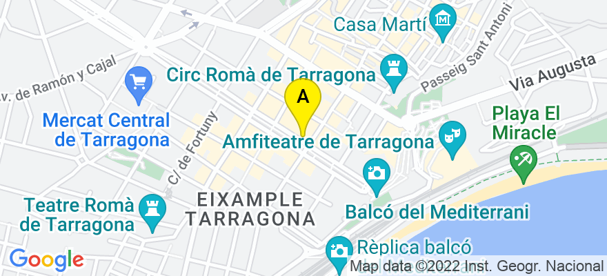 situacion en el mapa de . Direccion: Rambla Nova, 41, 4º, 2ª, 43003 Tarragona. Tarragona