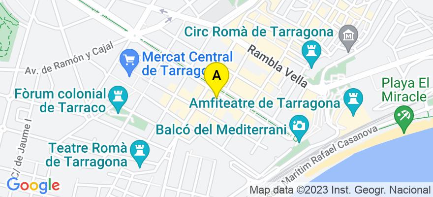 situacion en el mapa de . Direccion: Rambla Nova, 56, 7º, 43004 Tarragona. Tarragona