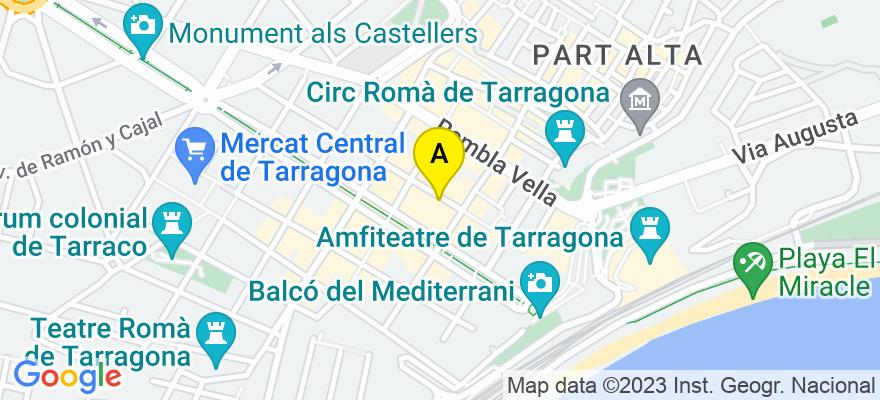 situacion en el mapa de . Direccion: c/August 12 1r, 43001 Tarragona. Tarragona