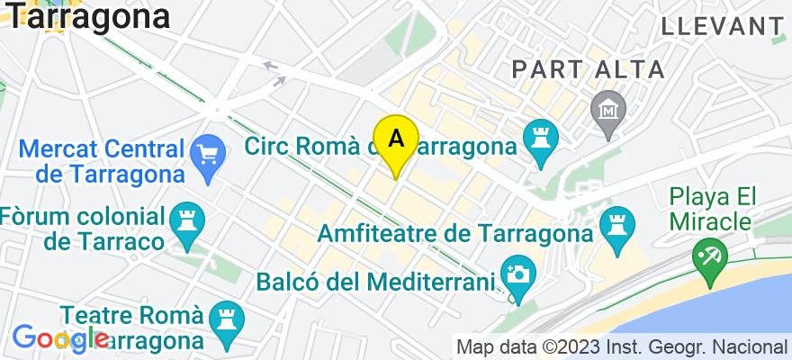 situacion en el mapa de . Direccion: C/ August nº 26 3º 1ª, 43003 Tarragona. Tarragona