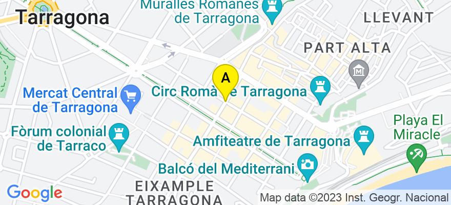 situacion en el mapa de . Direccion: Calle August, 43003 Tarragona. Tarragona