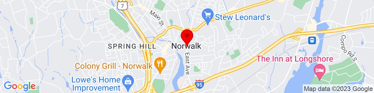 Google Map of 41.1176, -73.4079