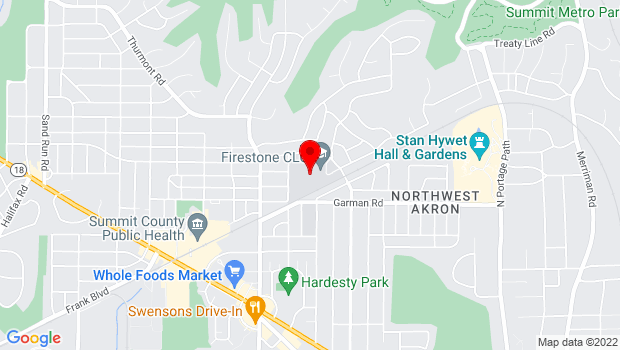 Google Map of 470 Castle Blvd, Akron, OH 44313
