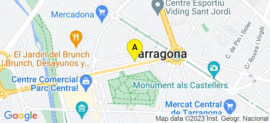 situacion en el mapa de . Direccion: Avenida Roma núm.7, 8º, 43005 Tarragona. Tarragona