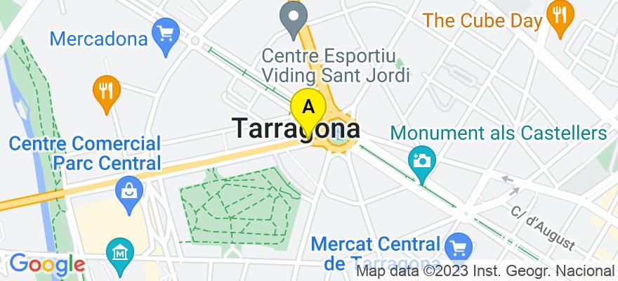 situacion en el mapa de . Direccion: C/ Reding, nº 8, principal 1ª, despacho 4, 43001 Tarragona. Tarragona