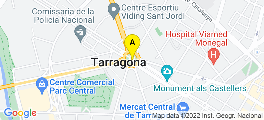 situacion en el mapa de . Direccion: Ramon y Cajal 7, 1º4º, 43001 Tarragona. Tarragona