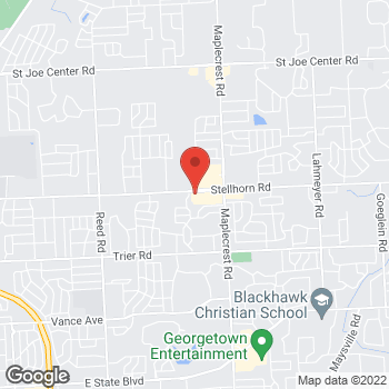 Map of Verizon Authorized Retailer - TCC at 5956 Stellhorn Rd, Fort Wayne, IN 46815