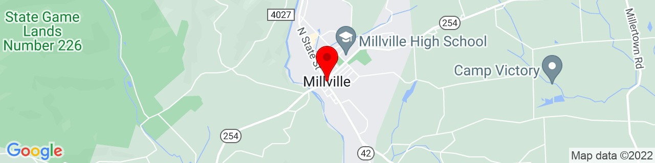 Google Map of 41.120363, -76.5299495