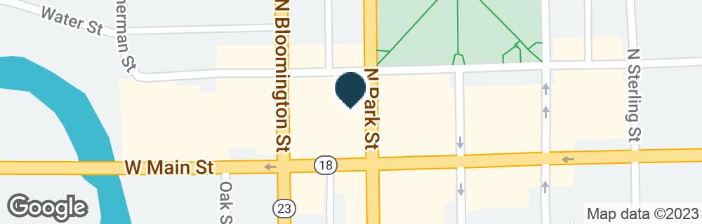 Google Map of120 E MAIN ST