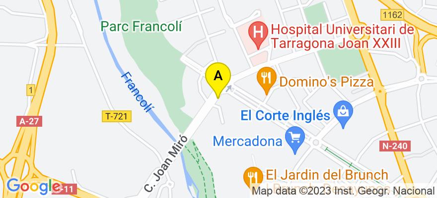 situacion en el mapa de . Direccion: C/ Joan Miró nº 2 esc. A, 5º 1ª, 43005 Tarragona. Tarragona