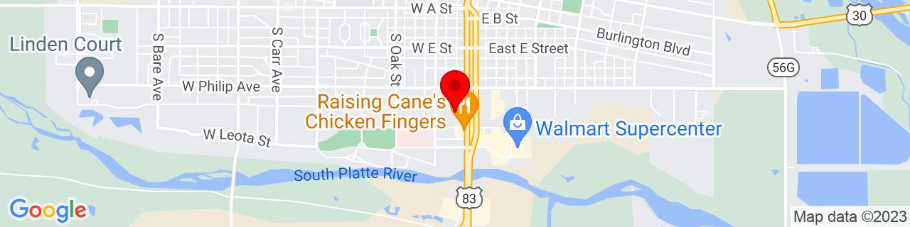 Google Map of 41.1238873, -100.7654232