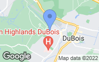 Map of DuBois, PA