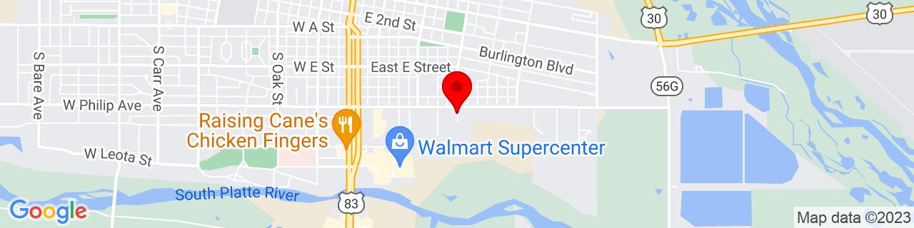 Google Map of 41.125554, -100.7509785