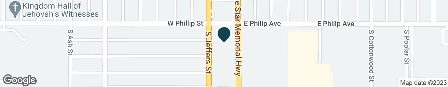 Google Map of102 E PHILIP AVE