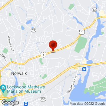 Map of Staples® Print & Marketing Services at 440 Westport Avenue, Norwalk, CT 06851
