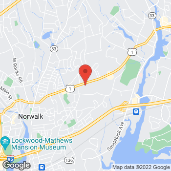 Map of Staples at 440 Westport Avenue, Norwalk, CT 06851