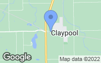 Map of Claypool, IN