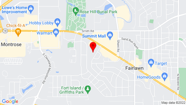 Google Map of 3300 Morewood Road, Fairlawn, OH 44333