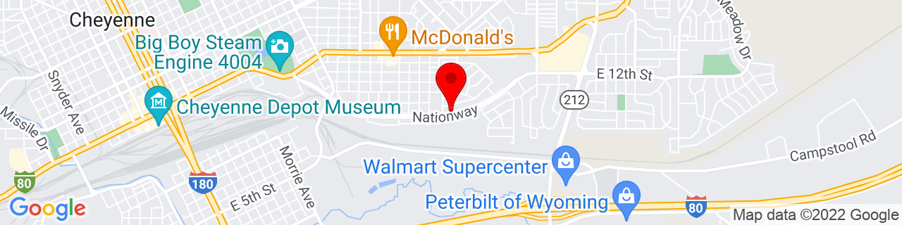 Google Map of 41.1329623, -104.7789772