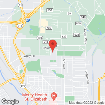 Map of Michael Burley, MD at 500 Gypsy Lane, Youngstown, OH 44504
