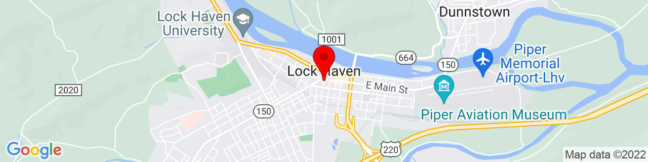 Google Map of 41.1370133, -77.4469263