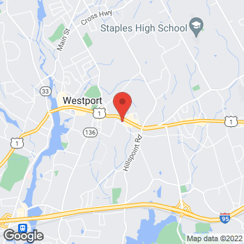 Map of Volvo Cars Westport at 556 Post Road East, Westport, CT 06880