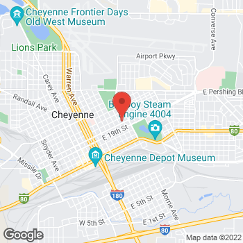 Map of Alison Simpson, DNP - Cheyenne Plaza Primary Care at 800 E 20th Street, Cheyenne, WY 82001