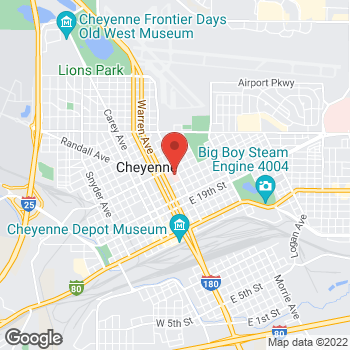 Map of Andrew Rose, MD - Cheyenne Children's Clinic at 2301 House Avenue, Cheyenne, WY 82001