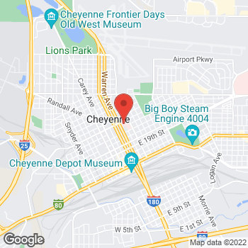 Map of Jessica Warren, APRN at 214 E 23rd St, Cheyenne, WY 82001