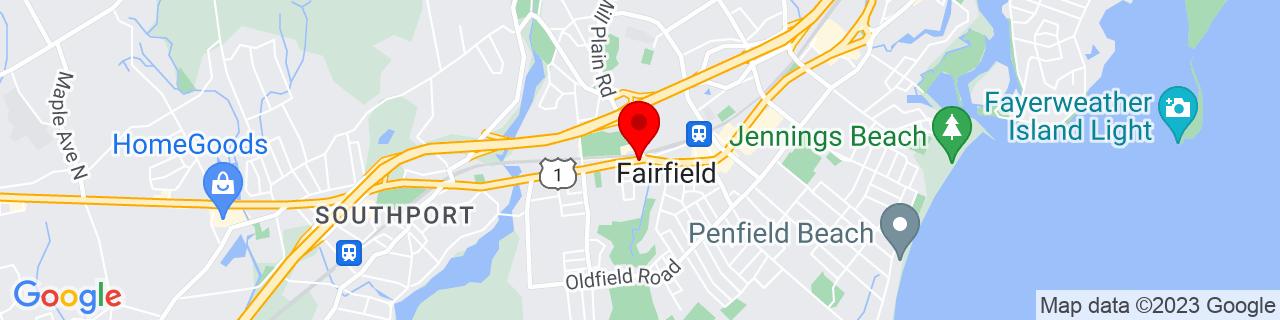 Google Map of 41.14111111111111, -73.26361111111112