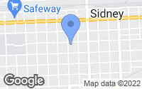 Map of Sidney, NE