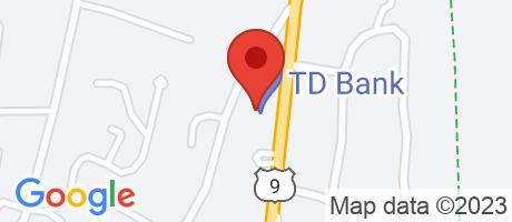 Branch Location Map - TD Bank, Ossining Branch, 174 South Highland Avenue, Ossining NY