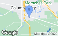 Map of Columbia City, IN