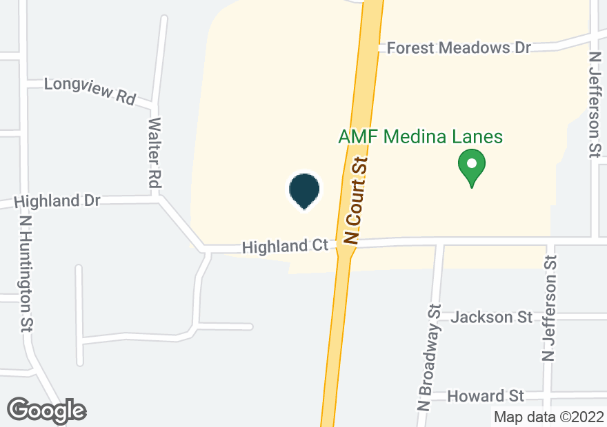 Google Map of805 N COURT ST