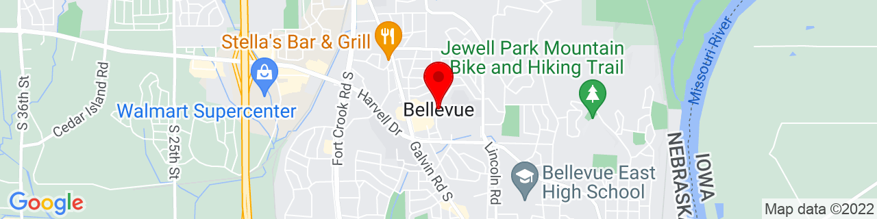 Google Map of 41.1543623, -95.9145568