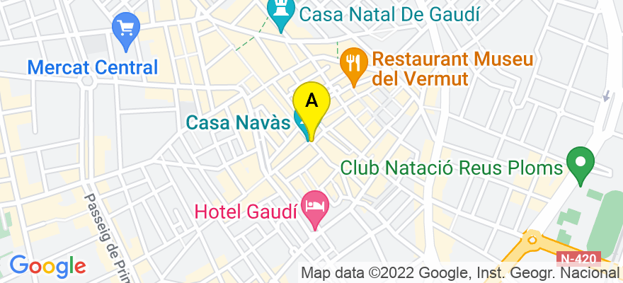 situacion en el mapa de . Direccion: C/ Llovera, 53 2º3ª, 43201 Reus. Tarragona