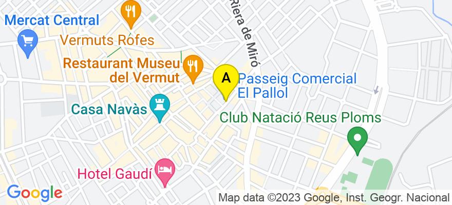 situacion en el mapa de . Direccion: C/ Hospital núm. 42, 2º 2ª, 43201 Reus. Tarragona