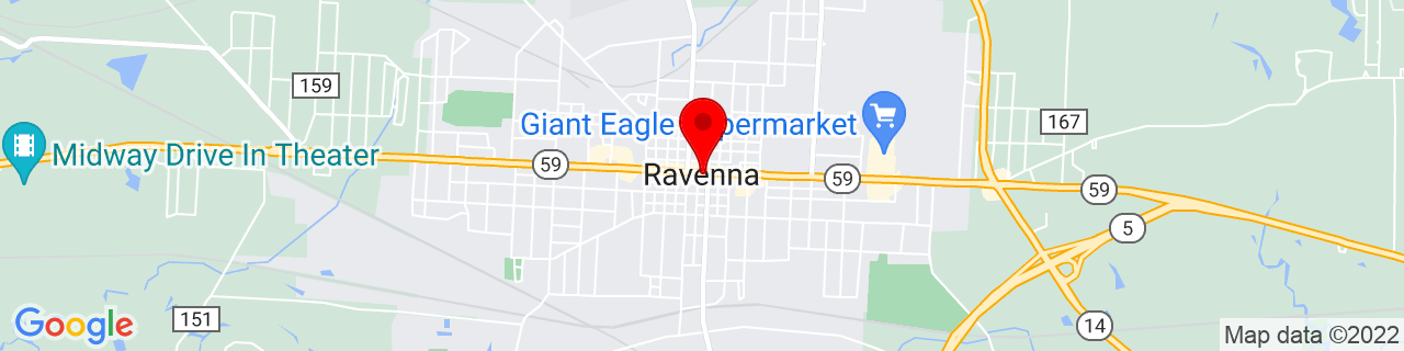 Google Map of 41.1575, -81.24194444444444