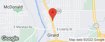 Map of 325 N State St in Girard
