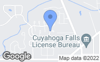 Map of Cuyahoga Falls, OH