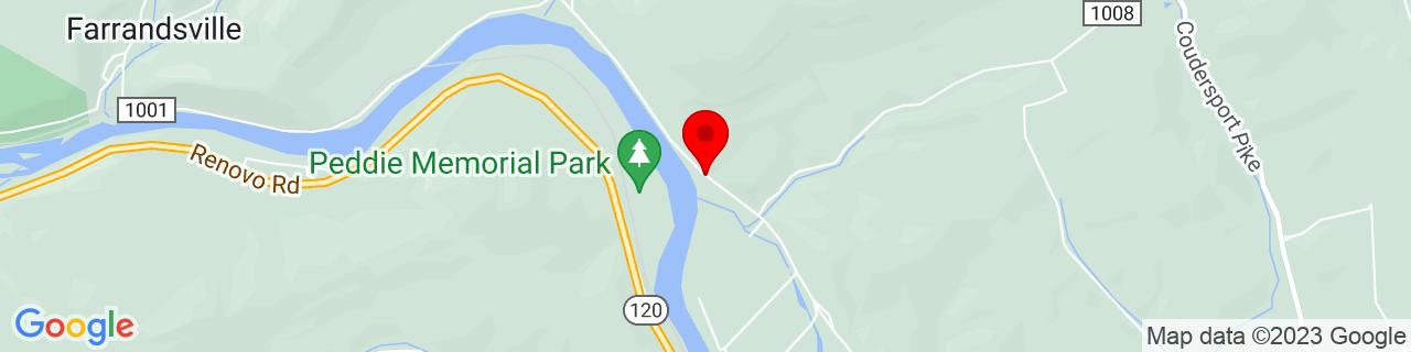 Google Map of 41.1663947, -77.46954269999999